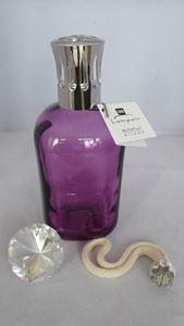 Afbeelding van brander glas vierkant paars