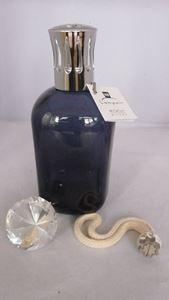 Afbeelding van brander glas vierkant blauw