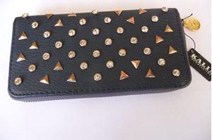 Afbeelding van Blauwe portemonnee met strass