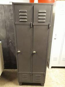 Afbeelding van franse locker kast 2 deurs in kleur u wenst